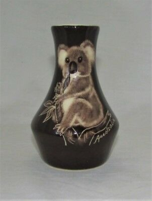 Australian Pottery - The Little Sydney Pottery - Small Vase - Koala