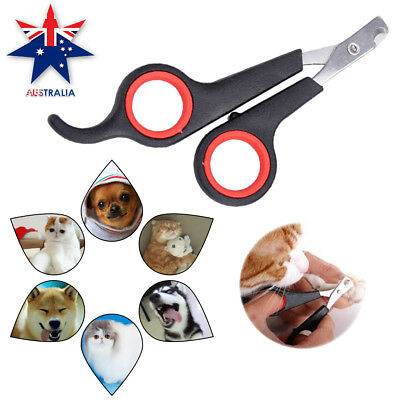 Pet Dog Cat Grooming Nail Toe Claw Clippers Scissors Trimmer Groomer Cutter AU