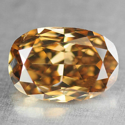 Fancy Cognac Yellow Diamond Oval 0.35 cts Loose Diamond Fancy Natural F555