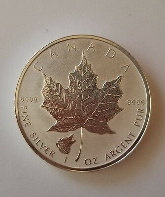 2016 CANADA SILVER MAPLE LEAF WOLF PRIVY - toning on the coin! Very nice!