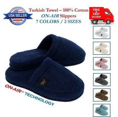 Luxury ON-AIR Slippers Soft Cotton Towel Unisex Men Women Guest Travel Spa Hotel
