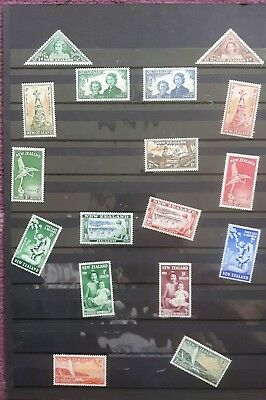 A selection of New Zealand stamps