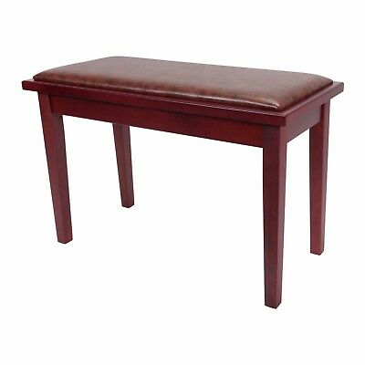NEW Crown Deluxe Timber Trim Duet Piano Stool Bench Storage Compartment Mahogany