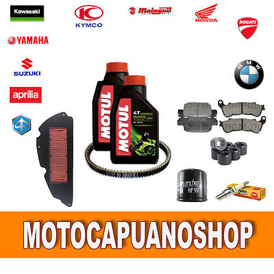 Replacement Kit Honda Sh 300 I 2012 Olio Filters Rolls Belt Pads Spark Plug
