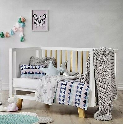 adairs kids UNICORN PLAY Cot quilt cover set RRP $99.95