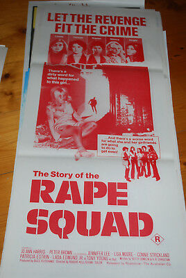 RAPE SQUAD -  original movie poster daybill-