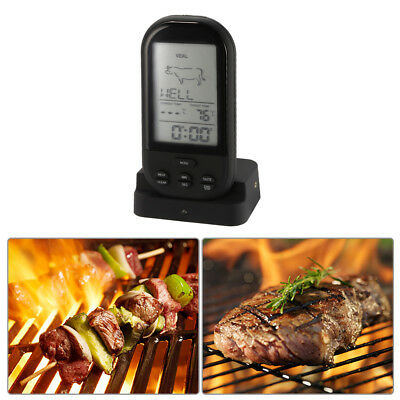 Barbecue BBQ Meat Thermometer Digital Wireless Remote for Kitchen Oven BI805