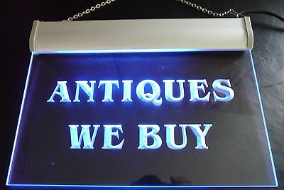 Neon Display Sign with UK 3 Pin Plug (240v) ANTIQUES  WE BUY