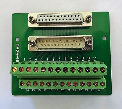 DB25 DSUB 25pin Male/Female Adapter Breakout Board Connector (D24)