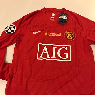 Manchester united 2008 champions league final moscow ronaldo jersey shirt camisa