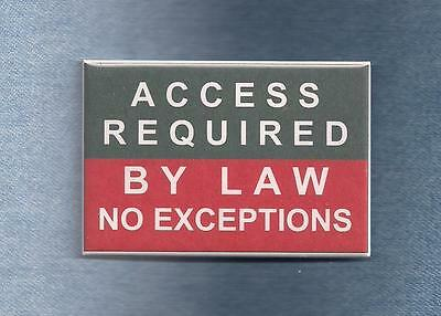 ~~$ALE~~ ACCESS REQUIRED BY LAW - 2 line  service dog badge -instead of patch