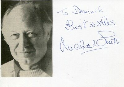 Michael Smith autograph Nobel Prize in Chemistry 1993, signed card