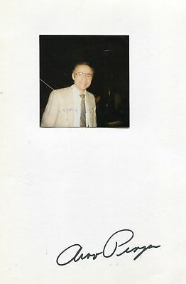 Arno Penzias autograph Nobel Prize in Physics 1978, signed card