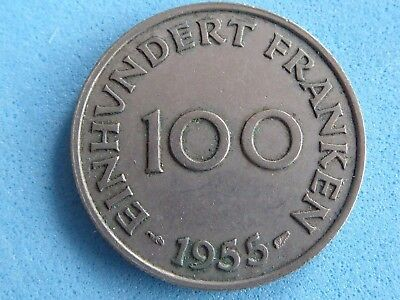 Saarland 100 Franken 1955 Only £2.00 With Free Uk Post  (71