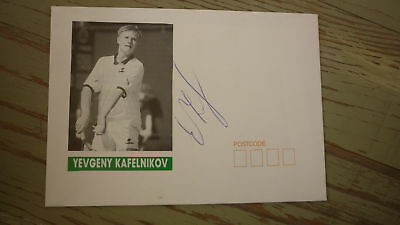 Russian Tennis Great Yevgeny Kafelnikov Hand Signed Souvenir Cover