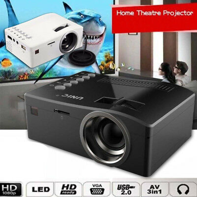 Full HD 1080P Home Theater LED Mini & Multimedia Projector Cinema USB TV HDMI MT