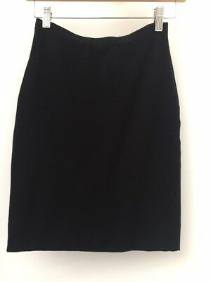 Whistles Black Pencil Jersey Skirt size 6 Extra Small
