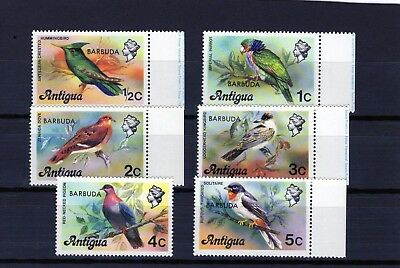 BARBUDA 1977 Bird issues of 6 comp. O/P on Antigua stamps Mtd. MINT