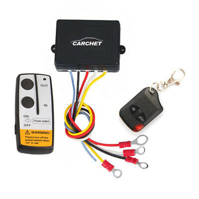 12V 50ft Winch Wireless Remote Control Set for Truck Jeep ATV & Warn Ramsey