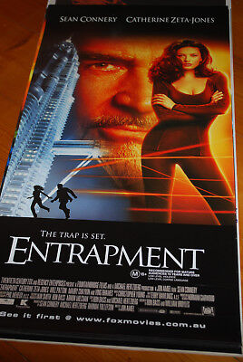 ENTRAPMENT -  original movie poster daybill- SEAN CONNERY, CATHERINE ZITA JONES