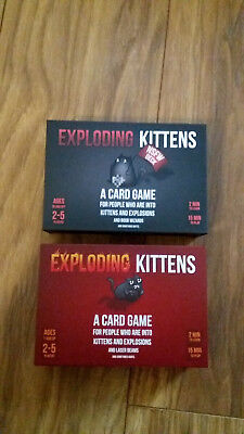 Exploding Card Kittens Game Board Original and NSFW