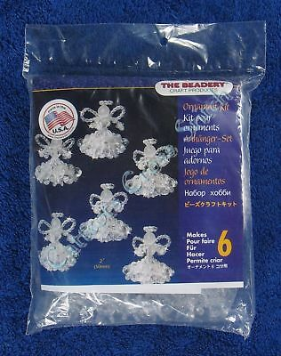"Christmas Bead Kit Crystal Angels Ornament Makes 6 2"" or 50mm Quick & Easy Kit"