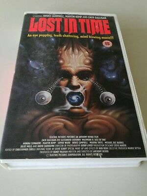 Lost In Time big box ex rental VHS video Bruce Campbell