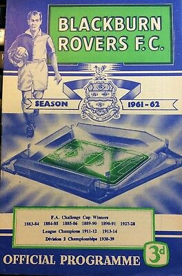 BLACKBURN ROVERS v BRISTOL ROVERS FOOTBALL PROGRAMME LEAGUE CUP 16th OCT 1961
