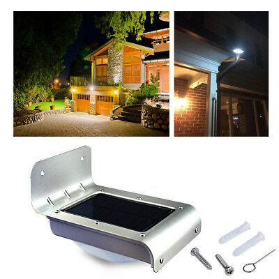 24 LED Solar Power Outdoor Waterproof Lamp PIR Motion Sensor Security & Light