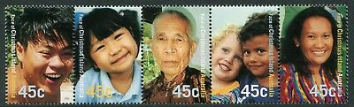 Face Of Christmas Island 2000 - Mnh Se-Tenant Strip Of Five (Bl331-Rr)