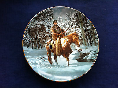 "Hamilton Mystic Warriors ""Man Who Walks Alone"" US Indian plate"