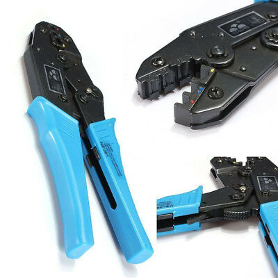 AWG22-10 Double&Crimp Insulated Terminals Plier Ratcheting Crimper Crimping Tool
