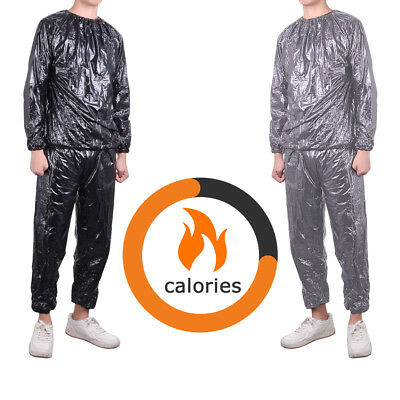 Sauna Suit Heavy Duty Sweat Gym Fitness Weight Loss Slimming Thermal Slimmer