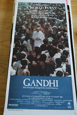 GANDHI -  original Australian movie poster daybill-