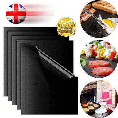 5x UNIVERSAL OVEN COOKER LINER BBQ GRILL NON STICK LINING REUSABLE MAT UK SELLER