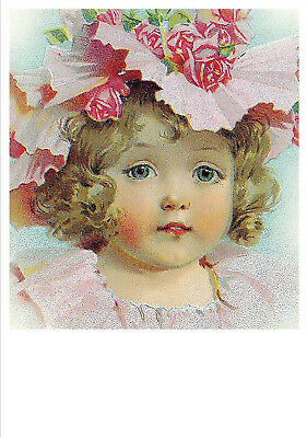 Maud Humphrey Modern postcard Beautiful baby girl Kids Flowers Fashion