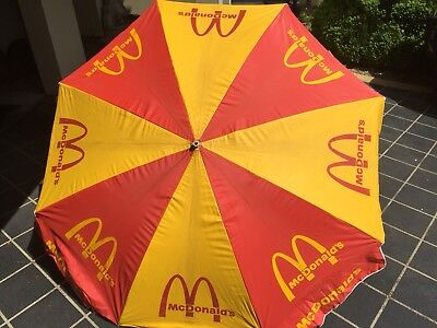 Vintage Mc Donald's Umbrella Large Bar Man Shed