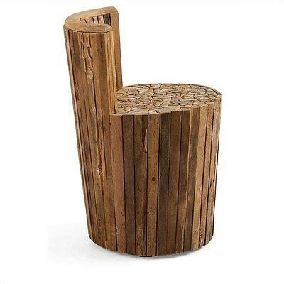 Carmen Solid Teak Timber Accent Stool