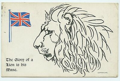 Original Ww1 Patriotic Postcard - Early Boots Chemist Card The Patriotic Series