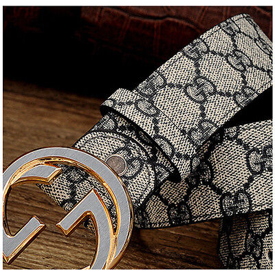 New High Quality Men Leather Belt Casual Smooth Buckle Women Waist Belts