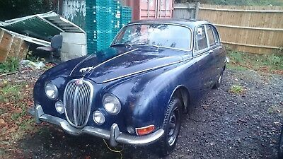 Jaguar 1966 Stype 3.4 Manual/overdrive,one Owner From New,blue /blue Leather