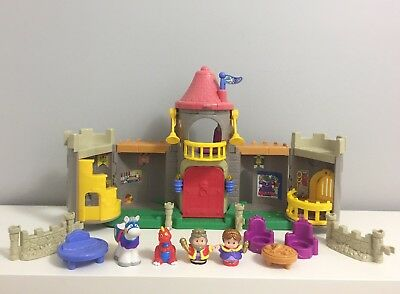 Fisher Price Little People Lil' Kingdom Castle with Knight and Dragon