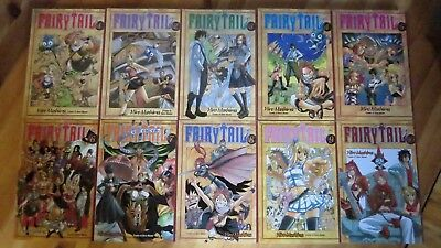 Fairy Tail Manga Volumes 1-10