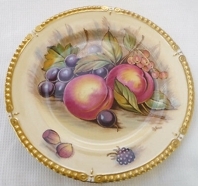 Large 1930's Aynsley Orchard Gold Gradooned Edge Plate