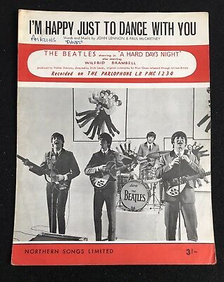 I'm Happy Just To Dance With You Rare BEATLES Sheet Music