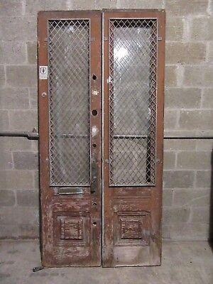 ~ Antique Double Entrance French Doors ~ 43 X 90 ~ Architectural Salvage ~