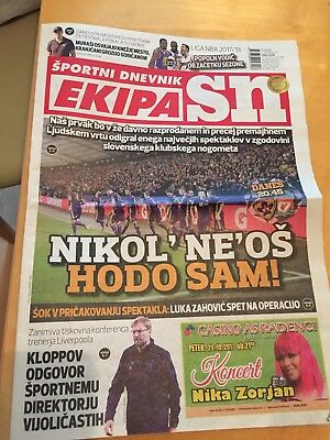 Maribor v Liverpool 17/10/2017 - DAY OF MATCH NEWSPAPER