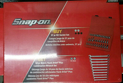 """SNAP-ON TOOLS 1/4"""" 3/8"""" 37pc TORX HEX SPLINE & FLANK DRIVE COMBINATION SPANNERS"""