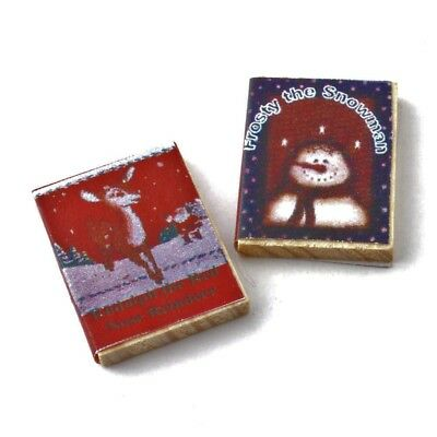 Dolls House 12th scale set of 2 Christmas Books