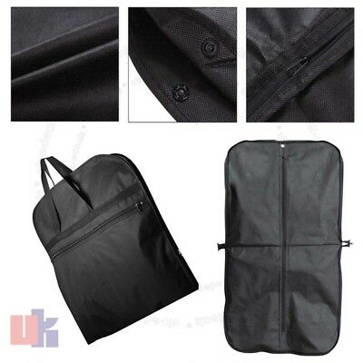 336fbb09ce7 New Black Suit Carry Cover Garment Travel Storage Protector Bag Holder  Carrier